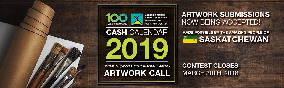 The CMHA Saskatchewan 2019 Cash Calendar Artwork Contest